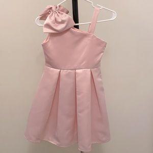 4EVER Free Girls Bow One-Shoulder Pink Dress